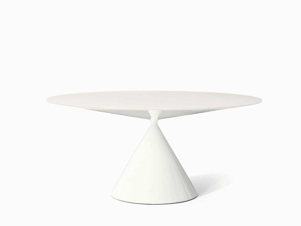 Clay Table Ceramic / Glass top - Round by Desalto