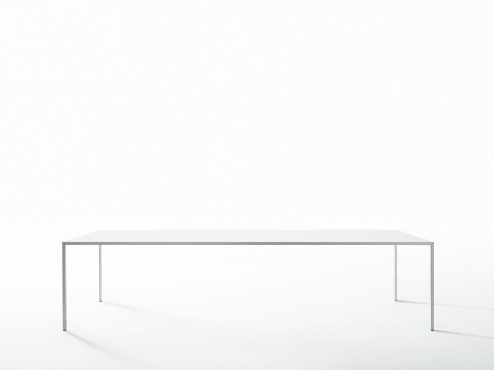 110 x 300cm,Desalto,Dining Tables,coffee table,desk,furniture,line,rectangle,sofa tables,table,white