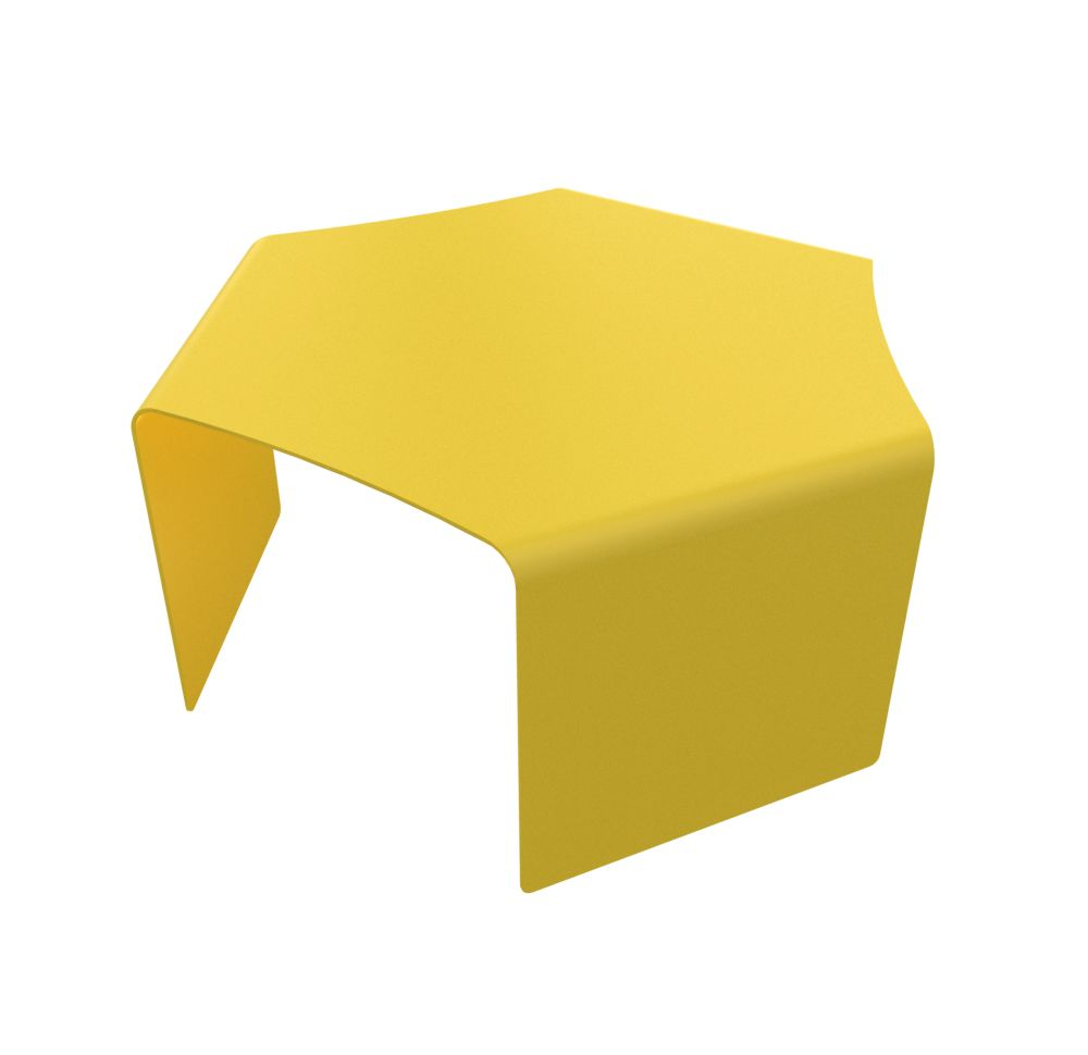 White - 01 RAL 9016,Matière Grise,Coffee & Side Tables,furniture,stool,table,yellow