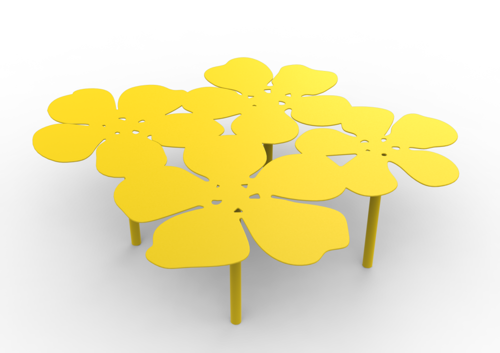 White - 01 RAL 9016, Steel,Matière Grise,Coffee & Side Tables,flower,leaf,plant,yellow