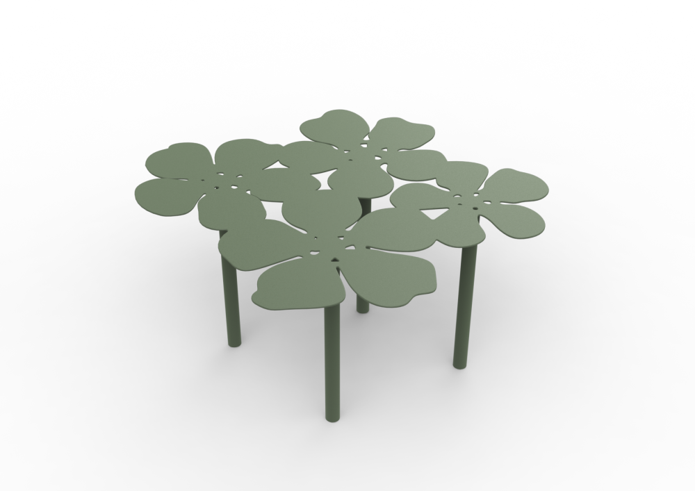 White - 01 RAL 9016, Steel,Matière Grise,Coffee & Side Tables,leaf,plant,table