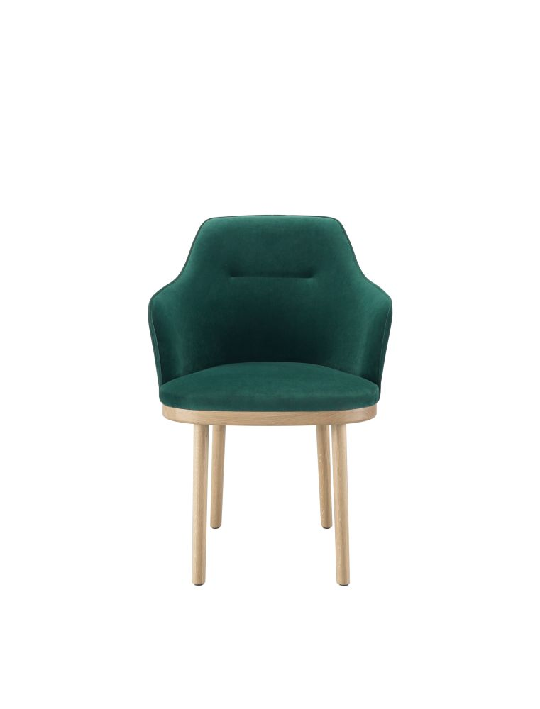 Lana 007 Canary, Oak Natural,Wewood ,Armchairs,chair,furniture,green,turquoise