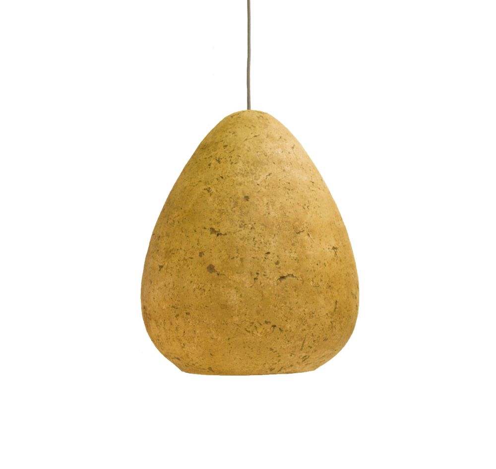 Morphe III paper mâché pendant lamp by Crea-Re Studio