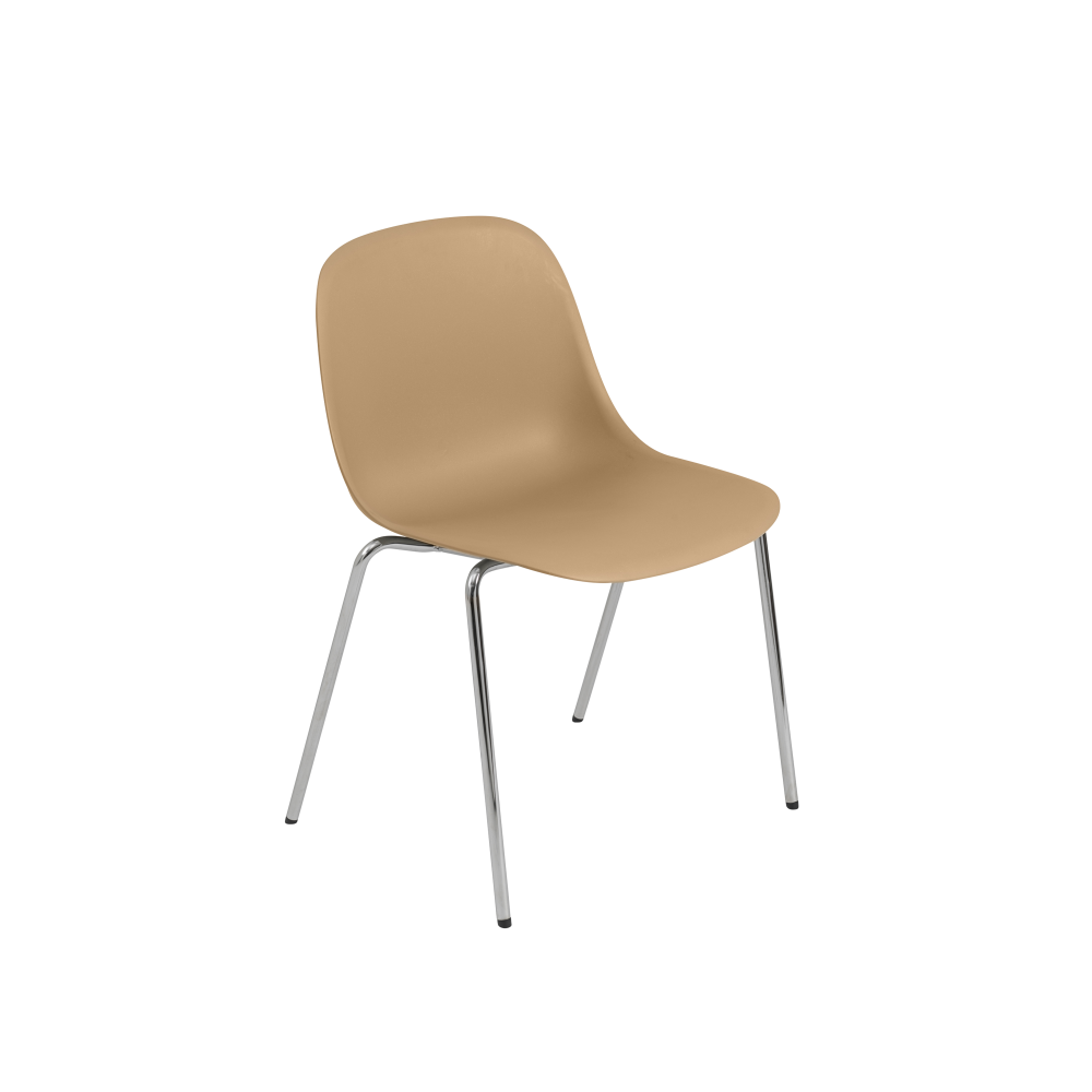 Fiber Side Chair / A-Base With Linking Device - With Felt Non Upholstered by Muuto