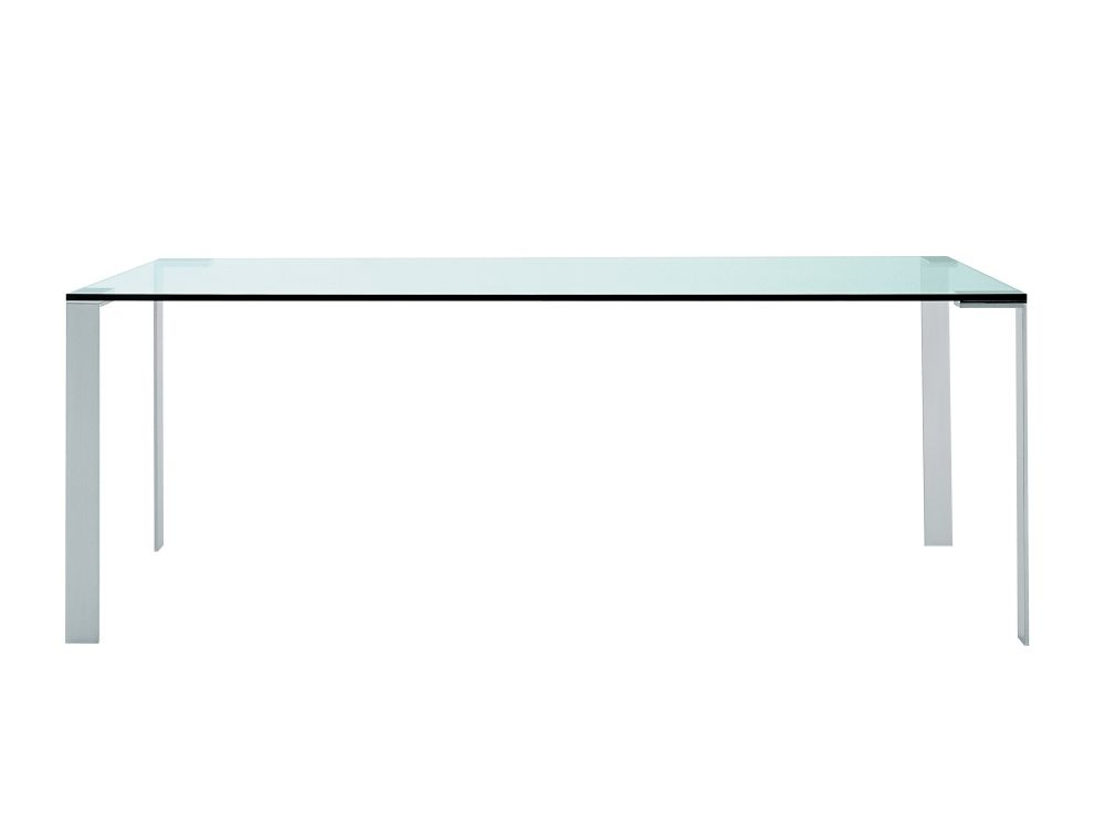 B62 Matt White, Transparent Glass E02, 119 x 79,Desalto,Dining Tables,coffee table,desk,furniture,outdoor table,rectangle,sofa tables,table,turquoise