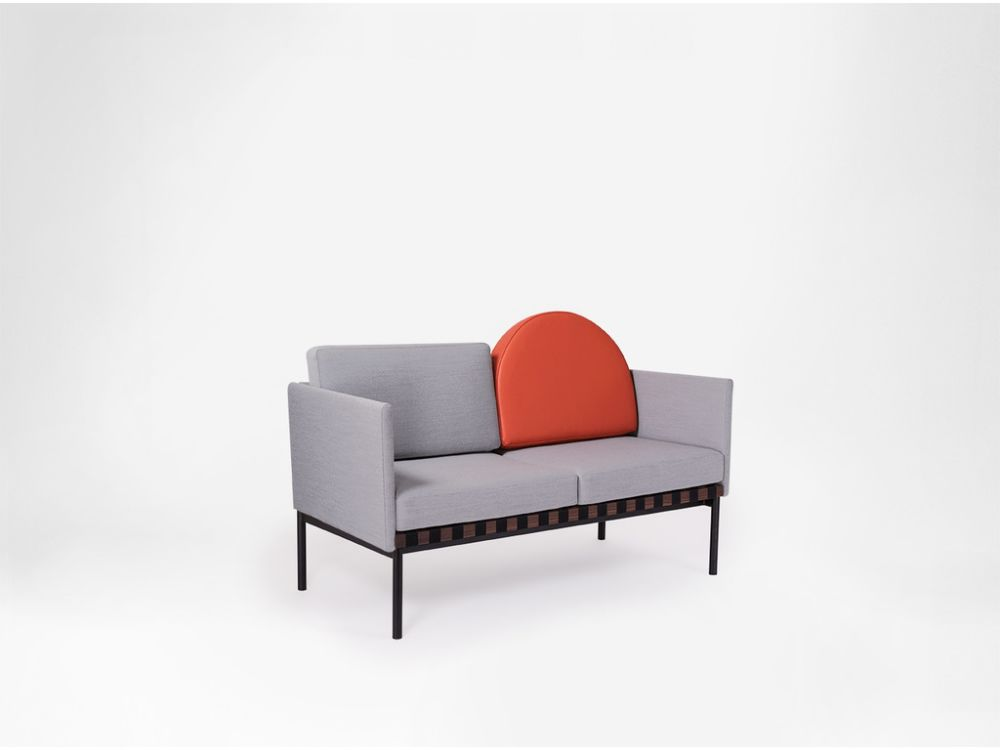 Canvas 114, Oak, Canvas,Petite Friture,Seating,chair,comfort,couch,design,furniture,line,orange,red,sofa bed,studio couch,table