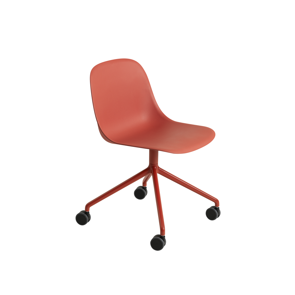 Ochre/Black,Muuto,Office Chairs,chair,furniture,line,material property,office chair,orange,product