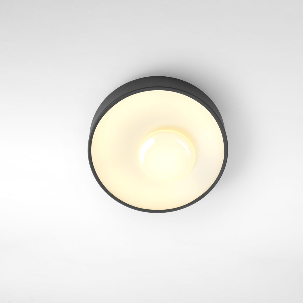 Piola - Graphite, 60 cm, DALI,Marset,Ceiling Lights,ceiling,ceiling fixture,circle,light,light fixture,lighting,yellow