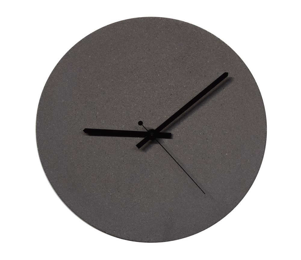 concrete wall clock Terrazzo black,URBI ET ORBI,Clocks,clock,furniture,home accessories,wall clock