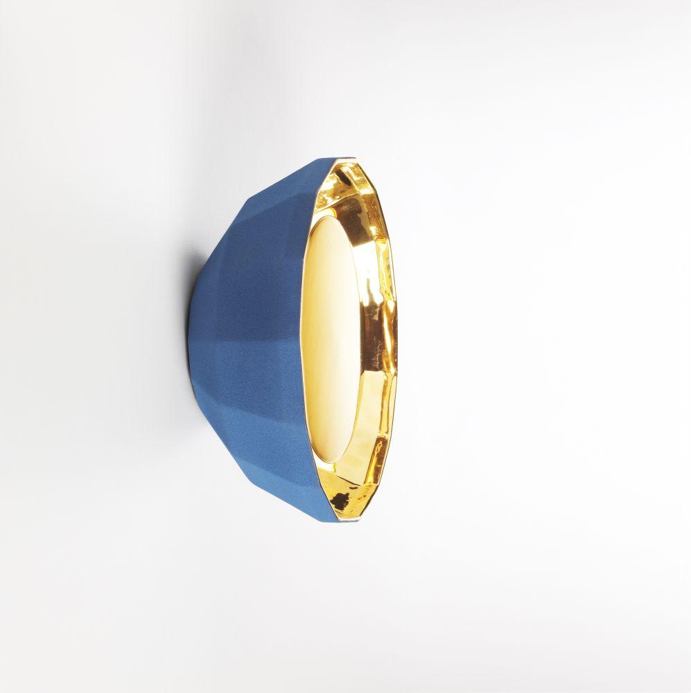 Marset - Black - gold, 40cm,Marset,Wall Lights,bangle,fashion accessory,gemstone,jewellery,ring,turquoise,yellow