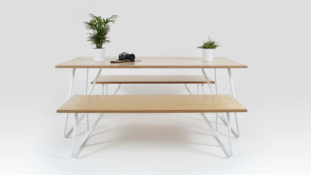 Trapeze Bench by Liqui Contracts