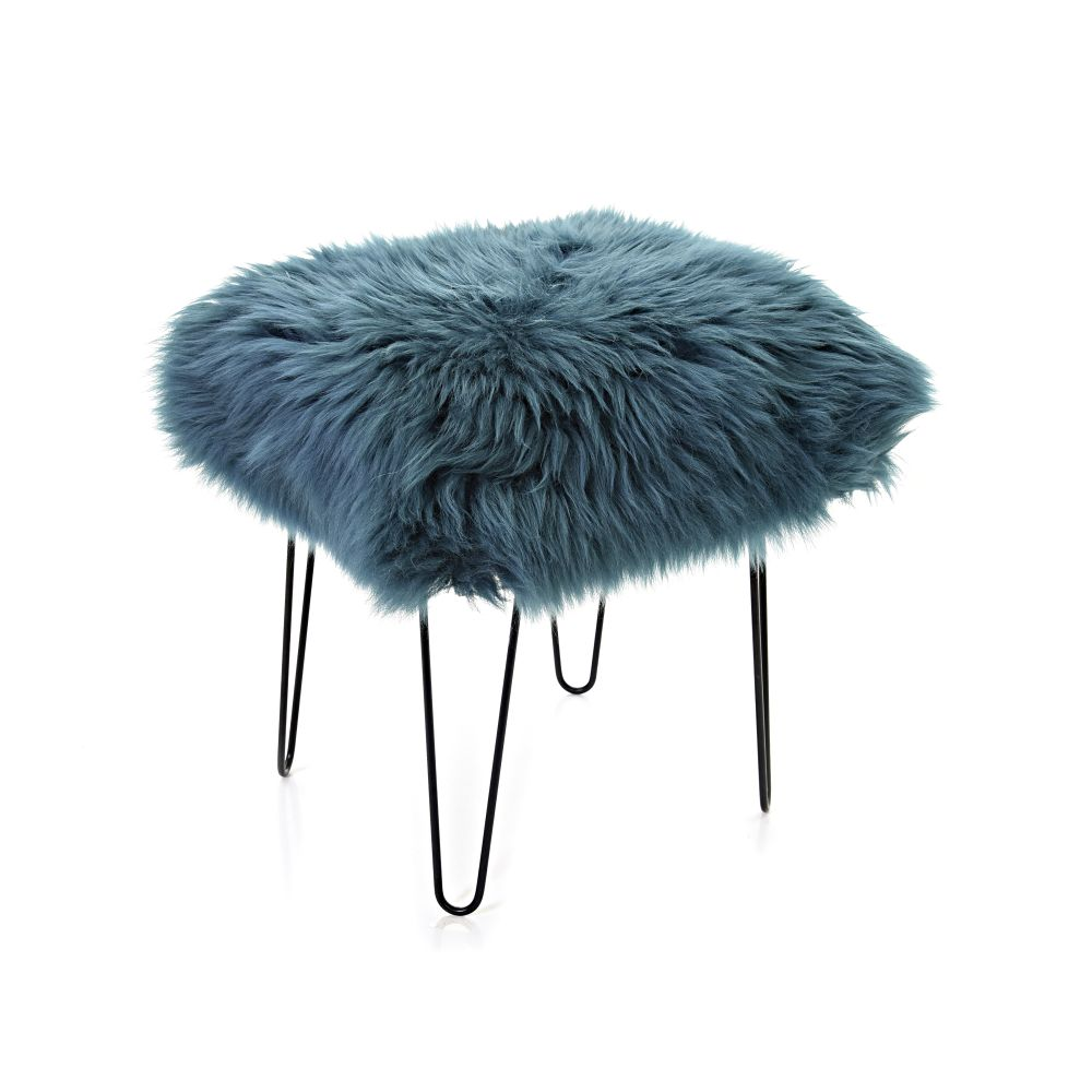 Chocolate,Baa Stool,Occasional Chairs,blue,fur,furniture,headgear,stool,teal,turquoise