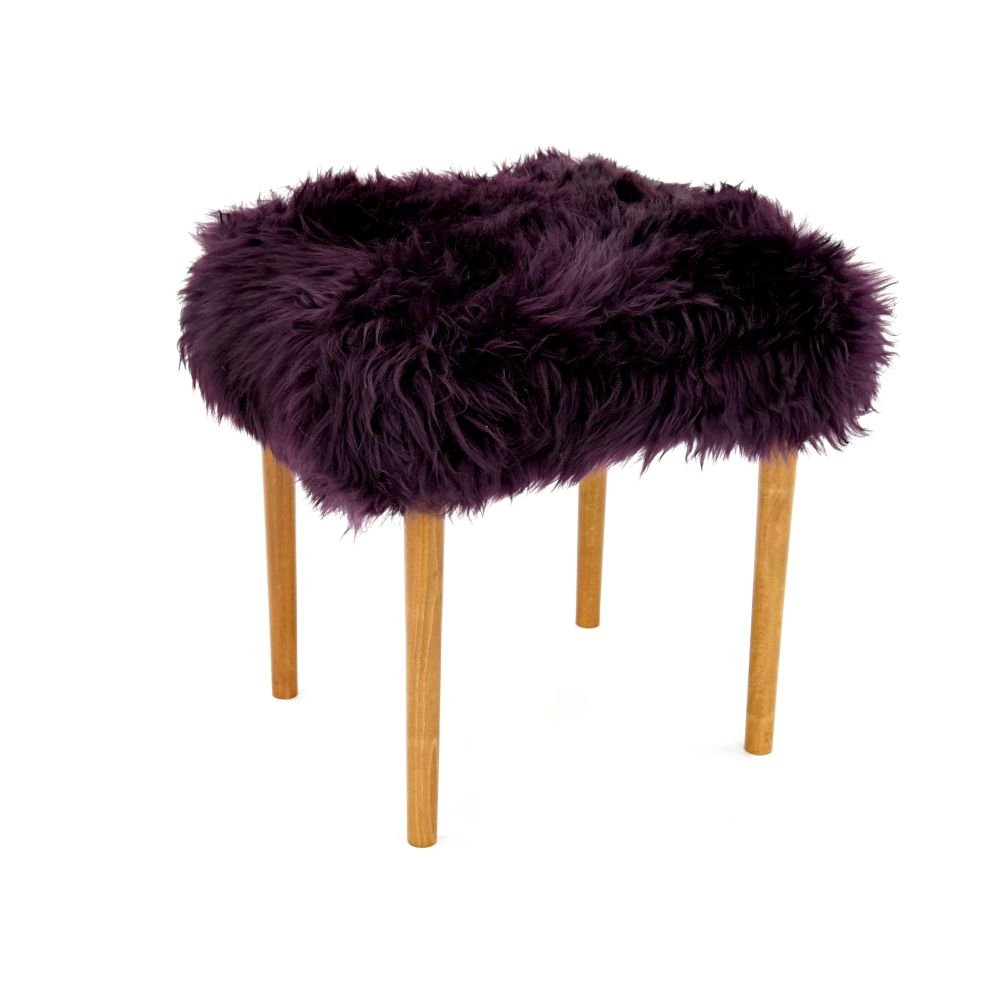 Chocolate,Baa Stool,Occasional Chairs,chair,fur,furniture,purple,stool,violet