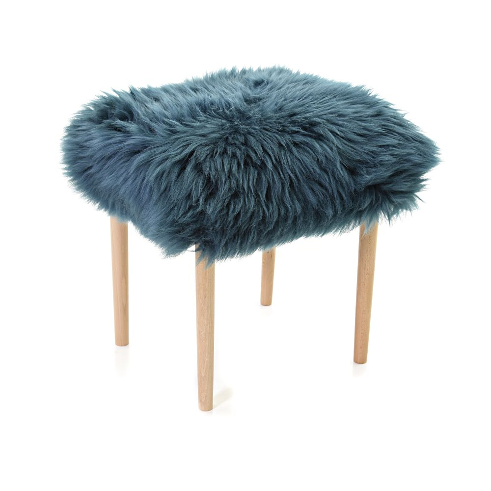 Cerise,Baa Stool,Occasional Chairs,fur,furniture,stool,turquoise