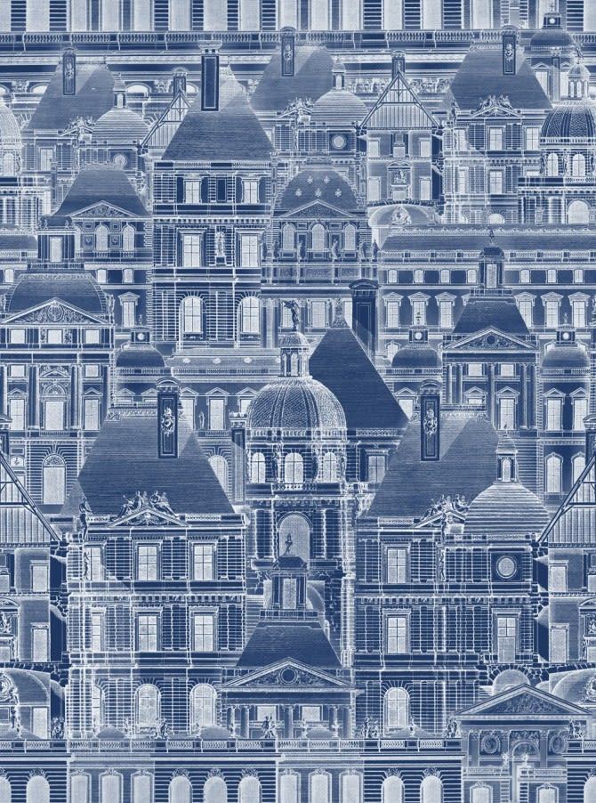 Louvre Blue Wallpaper by Mind The Gap
