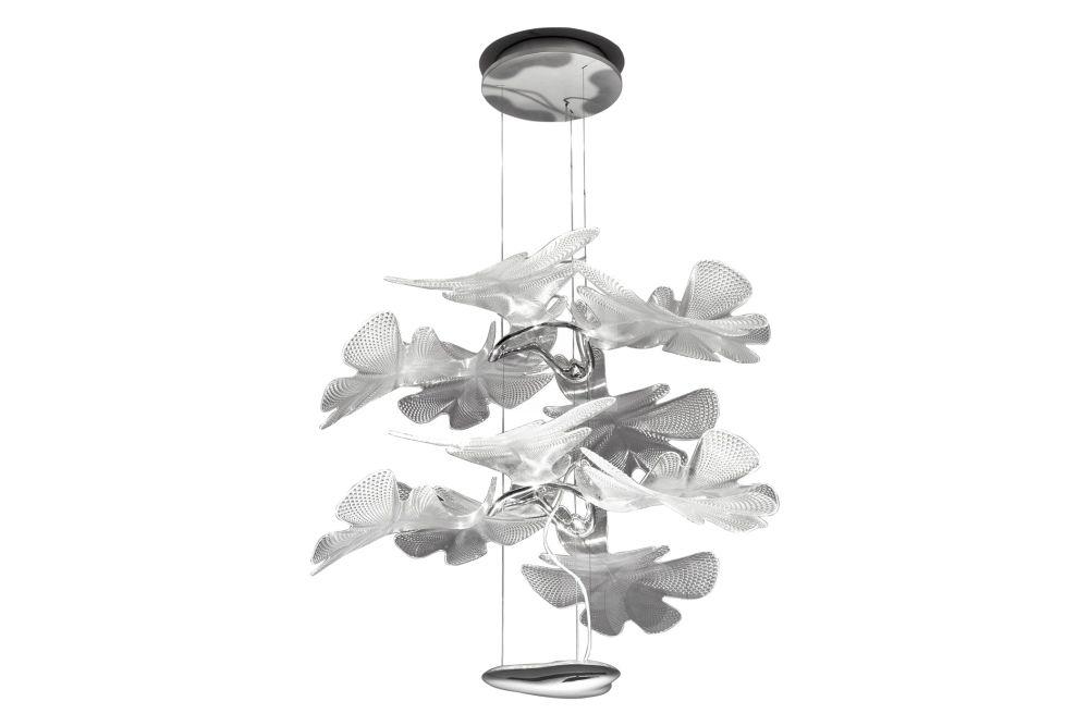 Polished Chrome,Artemide,Pendant Lights,baby mobile,baby toys,ceiling,ceiling fixture,leaf,light fixture,lighting,product