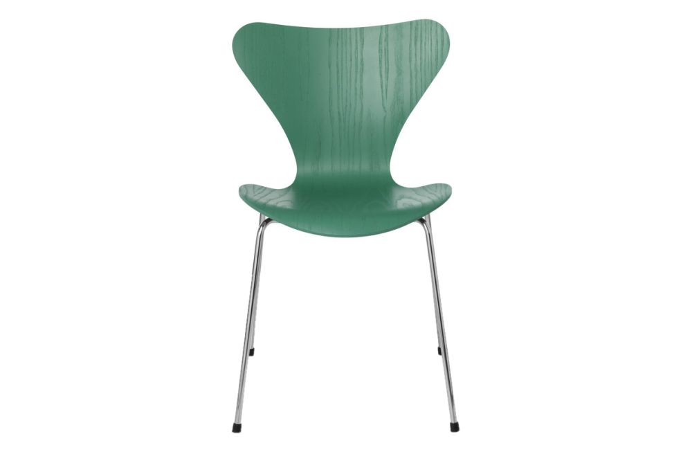 Coloured Ash White,Fritz Hansen,Dining Chairs,chair,furniture,green,plastic