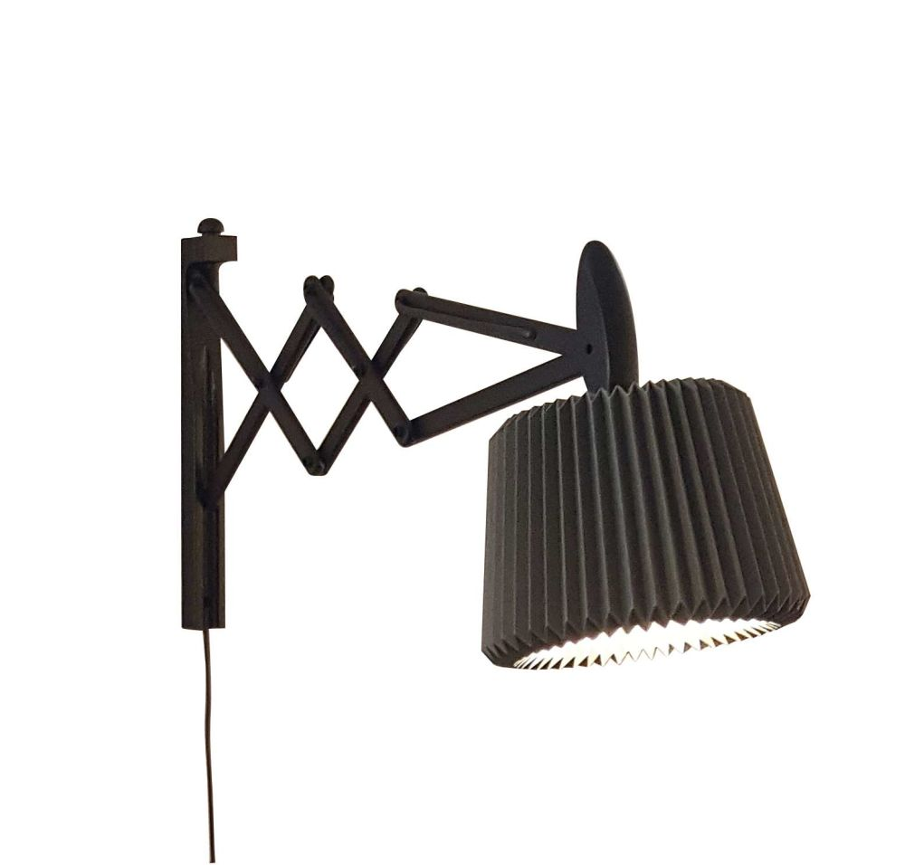 Smoked Oak/Silk White Paper Shade,Le Klint,Wall Lights,light fixture,microphone stand