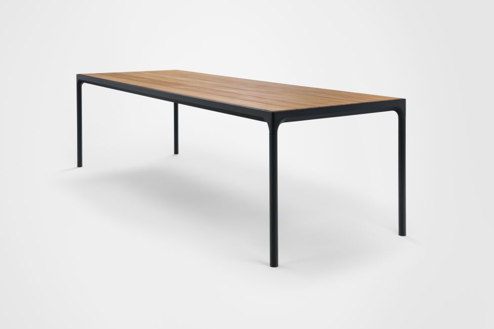 Black, 160cm,HOUE,Outdoor Tables,design,desk,furniture,line,material property,outdoor table,rectangle,sofa tables,table,wood stain