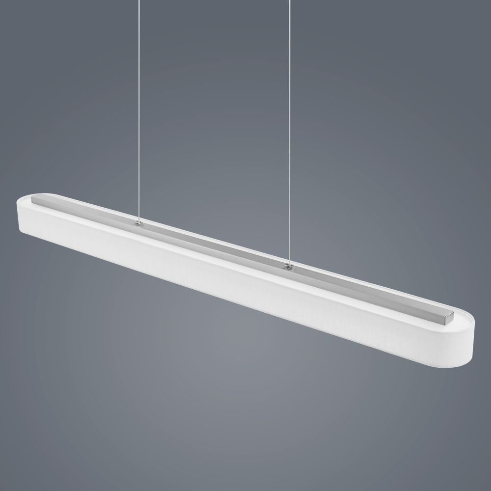 Bora long pendant light white by helestra