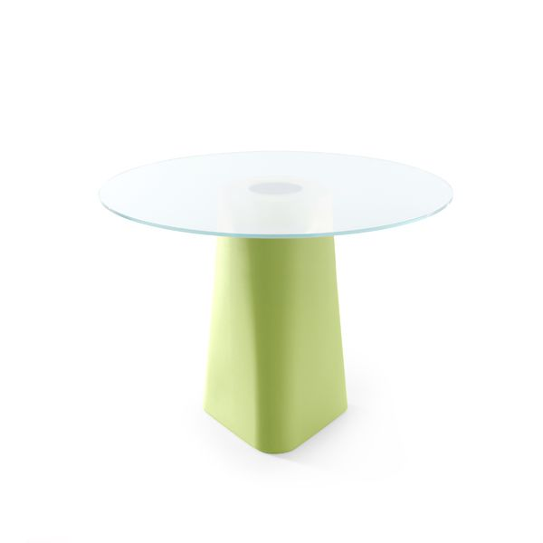 Pastel Green, White Crystal Glass,B-LINE,Dining Tables,coffee table,furniture,green,outdoor table,stool,table