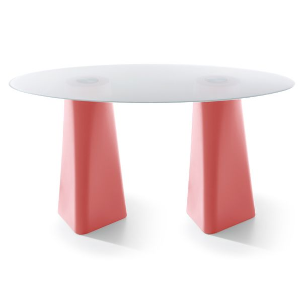 White, Clear Crystal Glass, 72cm,B-LINE,Dining Tables,coffee table,furniture,material property,outdoor table,pink,red,stool,table