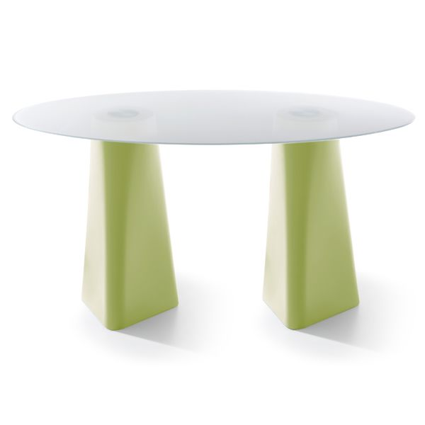 Pastel Green, White Crystal Glass, 102cm,B-LINE,Dining Tables,coffee table,furniture,green,outdoor table,stool,table