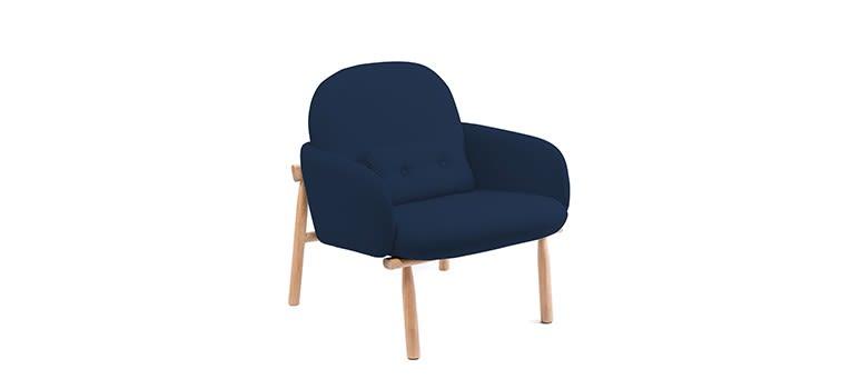 Dark Blue,HARTÔ,Armchairs,chair,cobalt blue,furniture