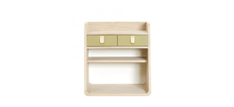 Brushed Brass, Natural Oak,HARTÔ,Decorative Accessories,beige,chest of drawers,drawer,furniture,shelf,table