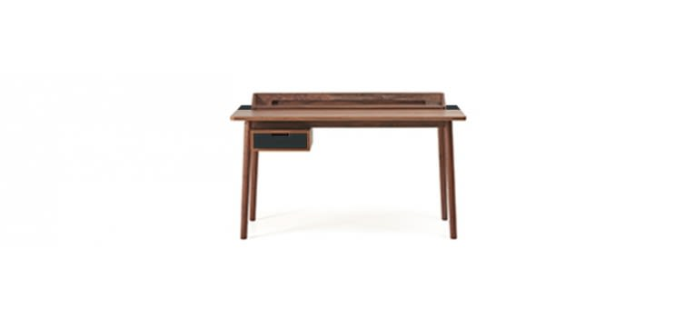 Slate Grey, Walnut,HARTÔ,Office Tables & Desks,desk,furniture,table,writing desk