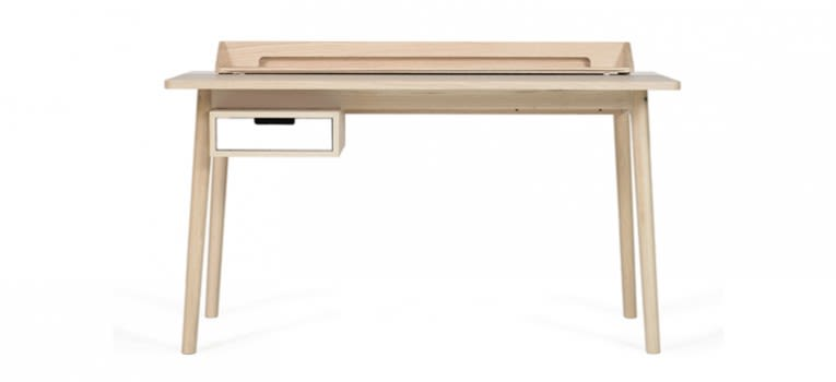 White, Oak,HARTÔ,Office Tables & Desks,computer desk,desk,furniture,table,writing desk