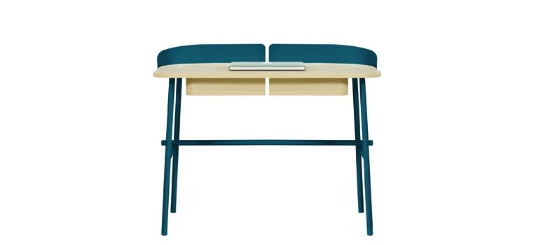 White,HARTÔ,Office Tables & Desks,desk,furniture,product,table,turquoise