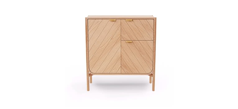 Natural Oak,HARTÔ,Storage Furniture,chest of drawers,cupboard,drawer,furniture,nightstand,table