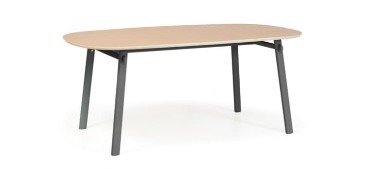 White, 180cm,HARTÔ,Dining Tables,coffee table,desk,furniture,outdoor table,plywood,rectangle,table,wood