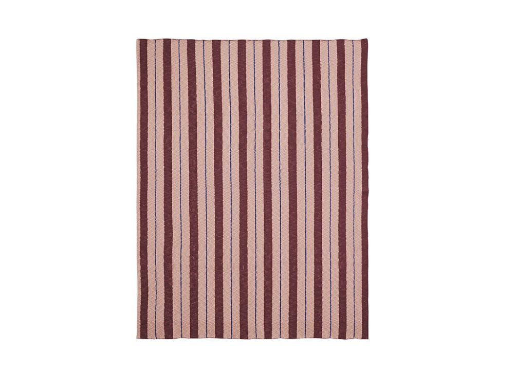 Blue,ferm LIVING,Blankets & Throws,beige,brown,maroon,orange,pink,red
