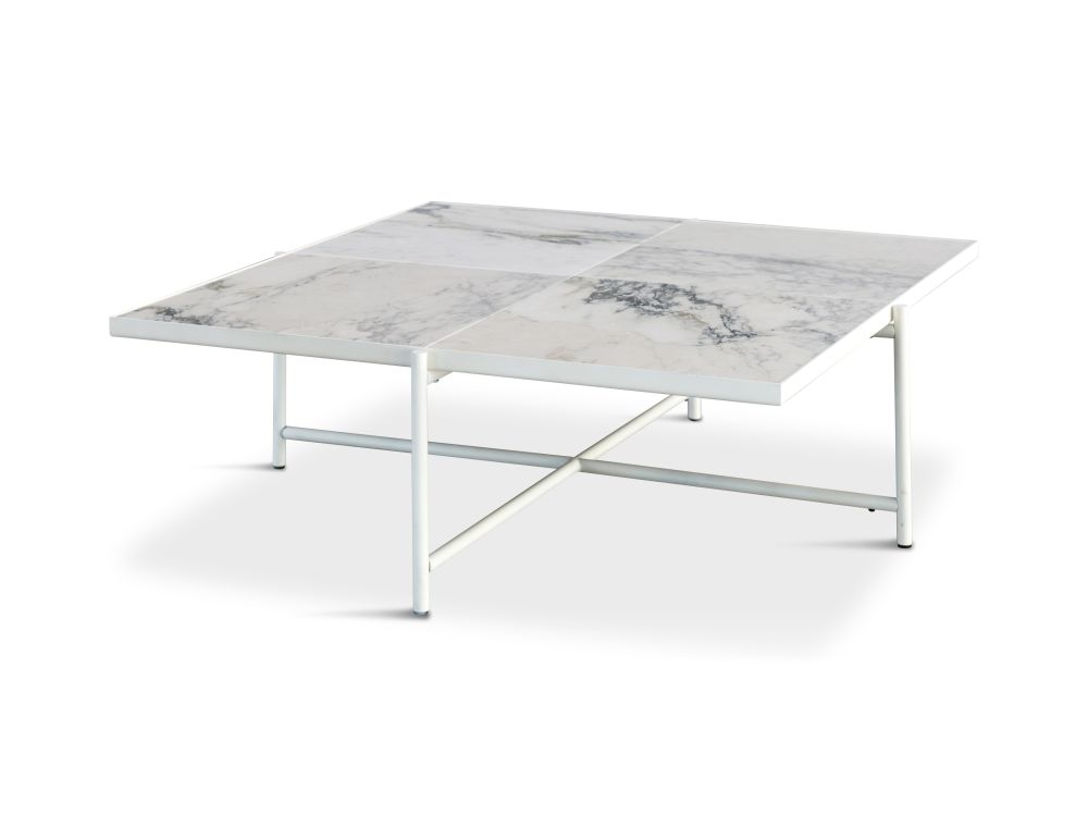Marble And Silver Coffee Table.Handvark Coffee Table 90 White Marble White Base By Handvark