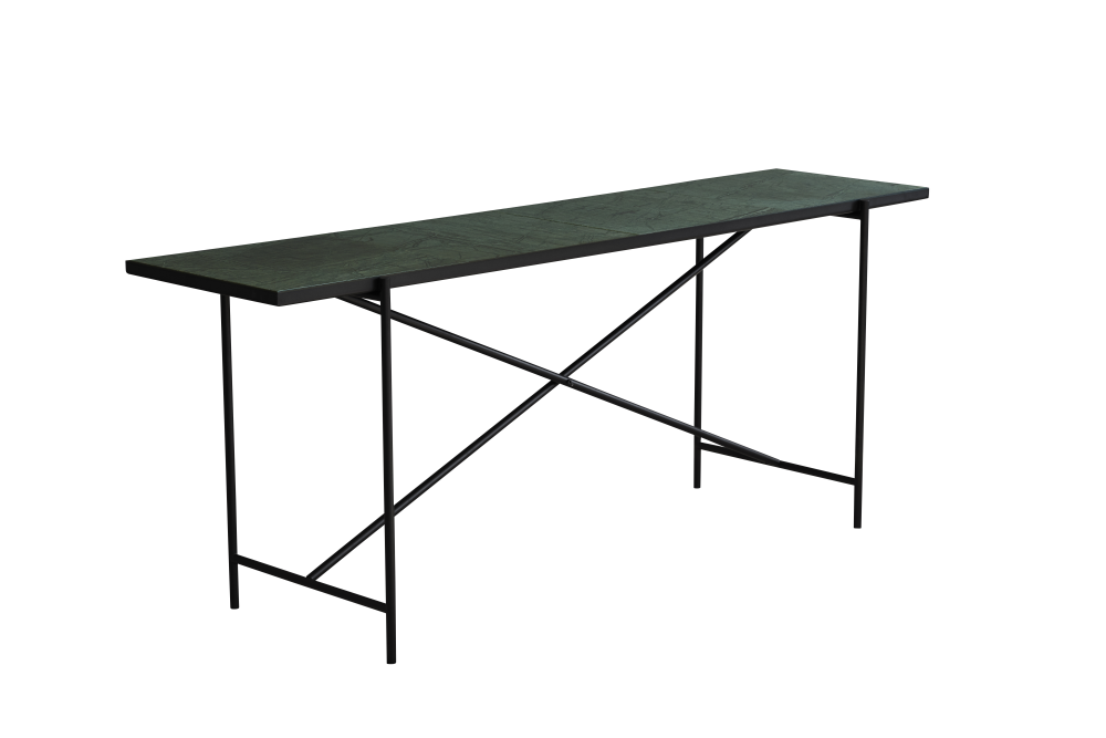 Grey Marble, Black Base,HANDVÄRK,Console Tables,desk,furniture,outdoor table,rectangle,table