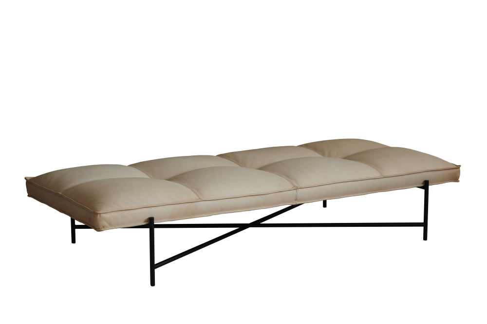 Black Aniline Leather,HANDVÄRK,Beds,beige,couch,furniture,sofa bed,studio couch