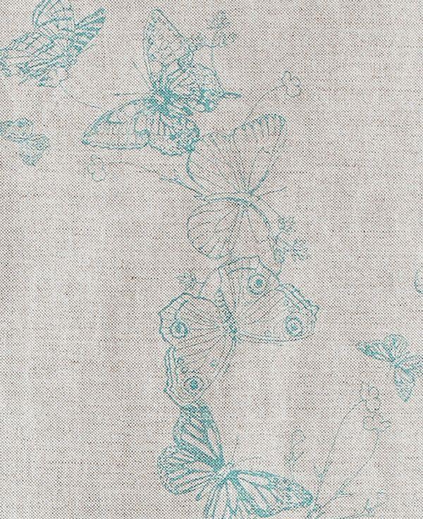 Raspberry,Barneby Gates,Fabrics,aqua,botany,green,pattern,teal,textile,turquoise