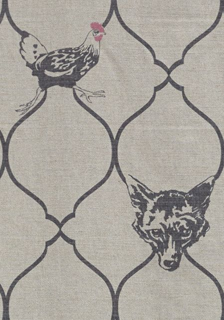 Fox & Hen Fabric by Barneby Gates