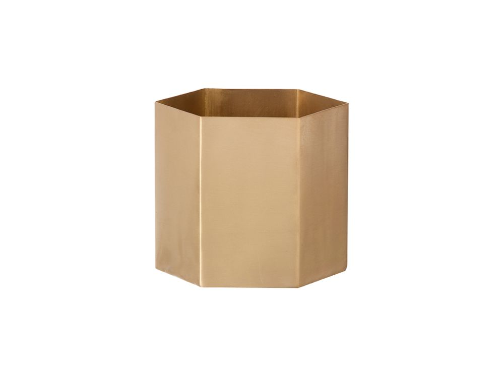 Brass, Small,ferm LIVING,Plant Pots,beige,brown,paper bag,shipping box