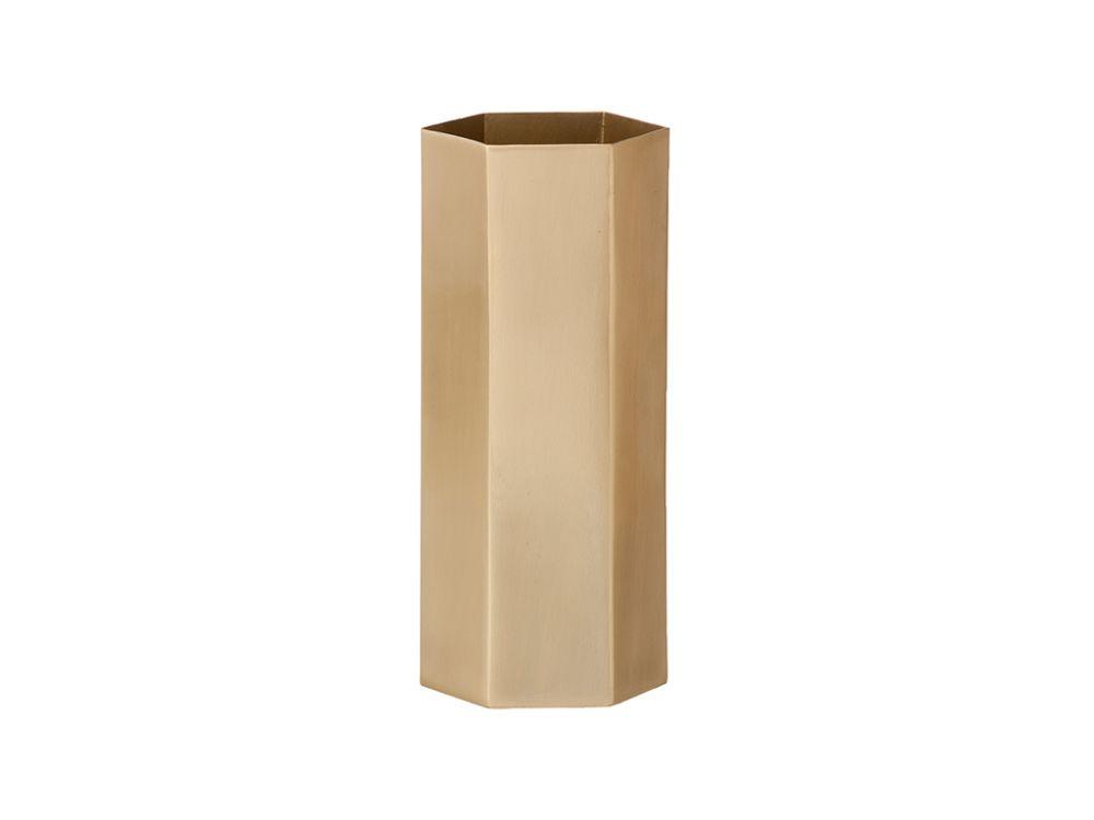 Brass,ferm LIVING,Vases,beige,cylinder