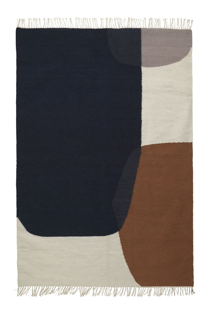 ferm LIVING,Rugs,beige,brown,rectangle
