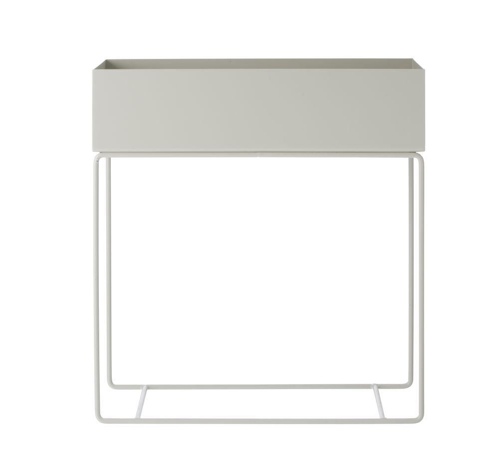 Light Grey,ferm LIVING,Plant Pots,rectangle,table