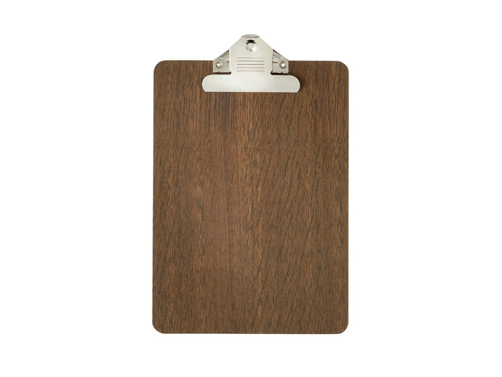Stained Black, A4,ferm LIVING,Decorative Accessories,brown,clipboard,rectangle,wood