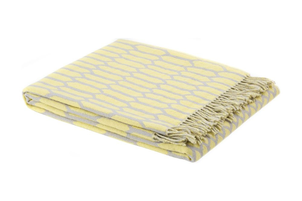 Yellow/Grey,Hem,Blankets & Throws,beige,rectangle,yellow