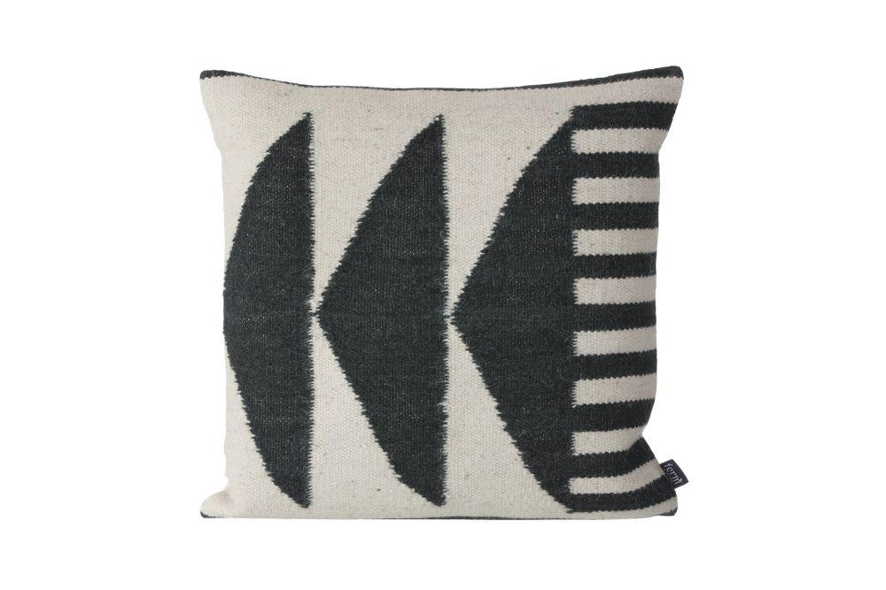 Kelim Cushion, Black Traingles - Set of 4 by ferm LIVING