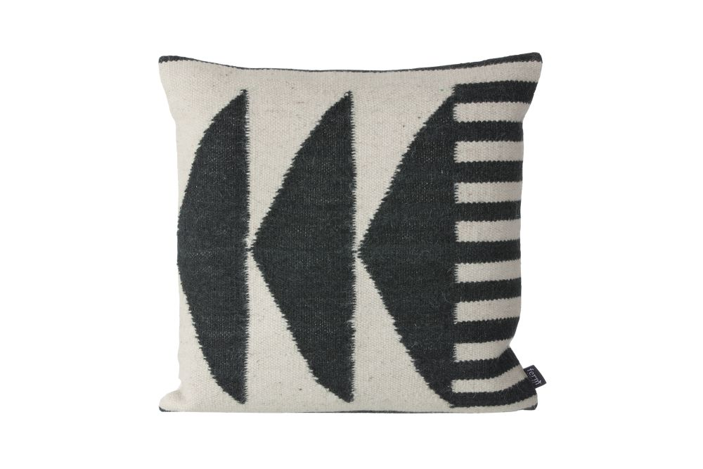 ferm LIVING,Cushions,beige,black,cushion,font,furniture,home accessories,linens,pillow,textile,throw pillow,white