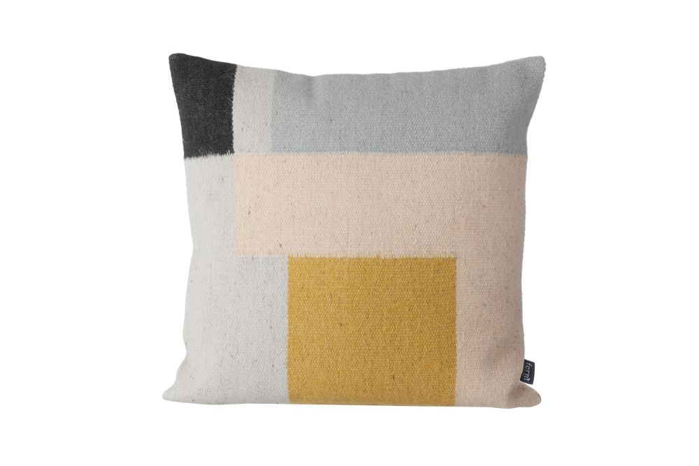 ferm LIVING,Cushions,beige,cushion,furniture,pillow,textile,throw pillow,yellow