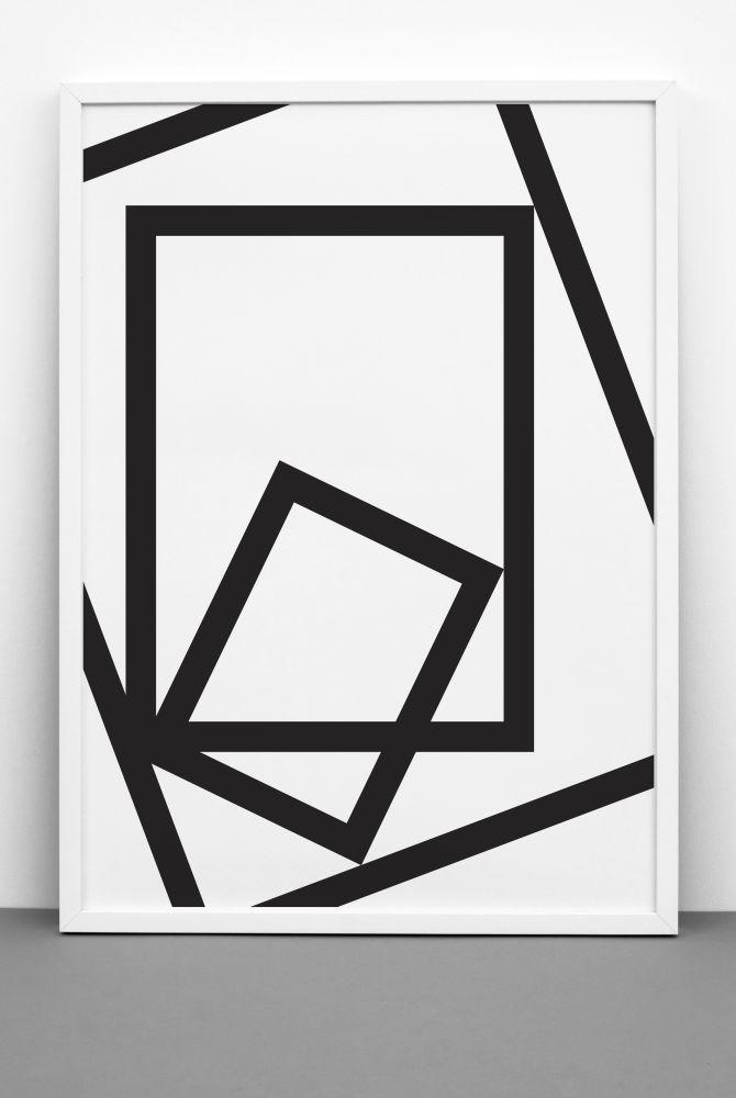 SQUARED print,One Must Dash,Prints & Artwork,line,parallel
